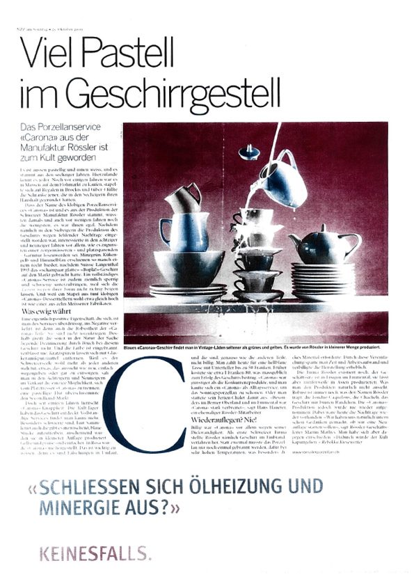 Spencers in NZZ am Sonntag